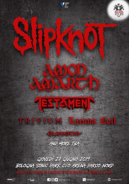 Slipknot - Bologna Sonic Park c/o Arena parco Nord Bologna - 27 giugno 2019